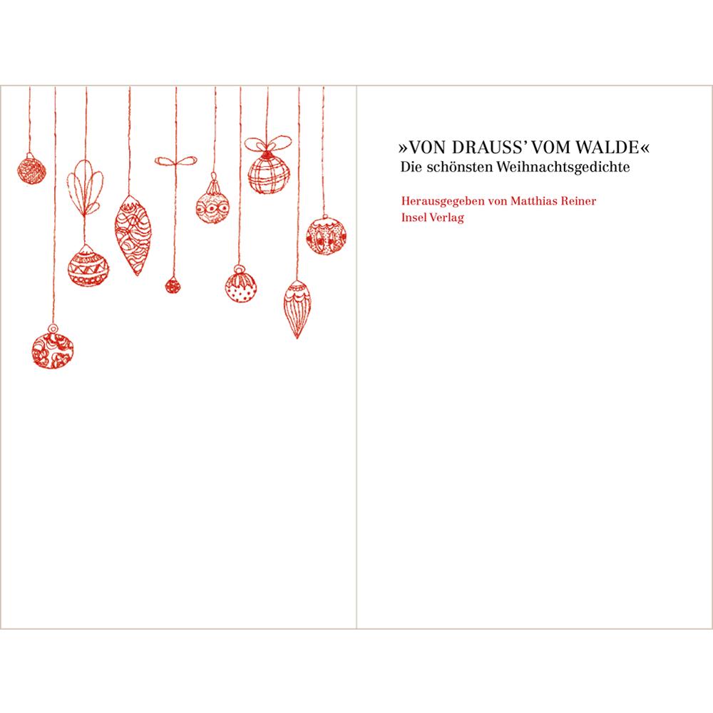 Die Schönsten Weihnachtsgedichte.Buch Von Drauß Vom Walde Die Schönsten Weihnachtsgedichte